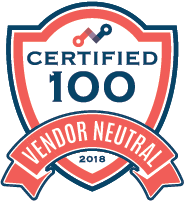 Vendor Neutral Certified 100 2018 badge